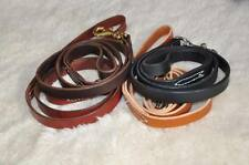 "Four Foot by 1"" Leather Dog Leash Lead Personalized FREE Amish Made 4'"
