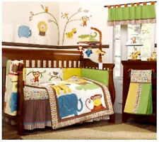 FULL CRIB SIZE- Cocalo Baby - Jungle Jingle 6-pc NURSERY VALANCE & BEDDING SET