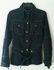MOTO Dark blue denim jacket womens size uk 6 eu 33 used MINT Condition