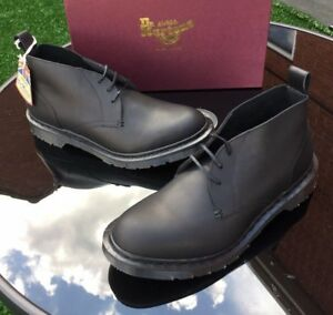 Dr Martens East-field black chukka leather boots UK 10 EU 45 Made in England