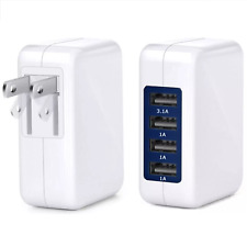 4 Port USB Wall Charger 15W 3.1A High Speed Universal Power Adapter Premium NEW