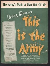 Army's Made A Man Out of Me 1942 This Is The Army (movie) Sheet Music