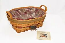 Longaberger 2001 Large Autumn Reflections Daily Blessings Basket With Liners