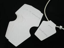 Lot 10 Supports Blanc Neuf pr Offrir, Vendre, Ranger Collier/Bracelet 13x5cm.