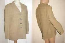 free s/h RALPH LAUREN size MEDIUM M Brown Plaid Wool JACKET BLAZER bust 44