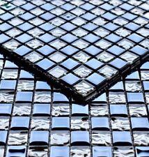 Fliesen Mosaik Blau/Silber