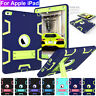 For Apple iPad 9.7'' 2018/2017/Pro 10.5'' Rugged Rubber Armor Hybrid Stand Cover