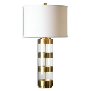 Uttermost Angora Brushed Brass Table Lamp - 26669-1