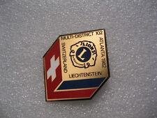 Lion Club Pin Switzerland Atlanta 1982 Liechtenstein Multi Dist. 102 Int