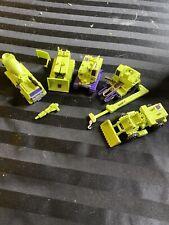 Vintage Hasbro 1980-1984 Construction Devastator G1 Transformers Lot(5)