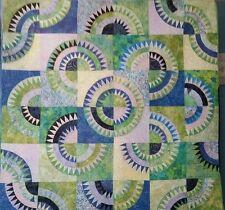 Modern Blue and Green Circles Quilt