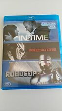 IN TIME + PREDATORS + ROBOCOP 3 BLU-RAY CASTELLANO ENGLISH