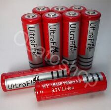 5x 7800mAh Akku Ultra Fire Li-ion Accu 3,7 V Batterie 18650 / 65x18 mm SWAT PCB