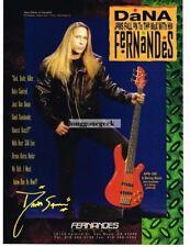 1993 Fernandes 5-String Bass Guitar Dana Strum Slaughter Vintage Print Ad