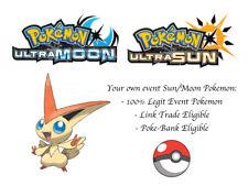 Pokemon Ultra Sun and Moon Tohoku Japanese Event Pokemon Victini w/ Special Move