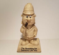 Vintage 1970 Sillisculpt Figurine Searching For Someone Like You W&R Berries Co.