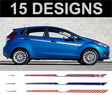 ford fiesta side stripes decals stickers 5 door 2 off choice of design