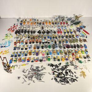 LEGO 150+ Minifigure Lot Star Wars Troopers Batman Spiderman City Accessories
