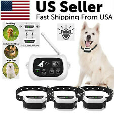 Wireless Dog Fence Pet Containment System Waterproof Training Collars 1/2/3 Dogs