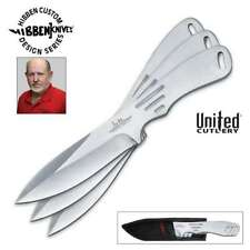 GIL HIBBEN Large Thrower Triple 3pc Set Throwing Knives with nylon sheath 2011