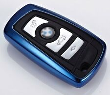 BMW key chain shell cover case 1 2 3 4 5 7 Series M3 M4 M5 GT X1 X3 X4 TPU BLUE