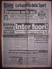 LA GAZZETTA DELLO SPORT 8/12/1983   Inter 1  Austria Vienna 1   Coppa UEFA