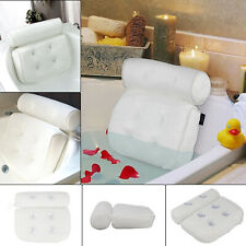 Premium Waterproof 3D Mesh Neck Back  Luxury Comfortable Bath Spa Pillow Cushion