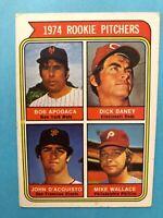 1974 Topps Baseball Card #608 Rookie Pitchers Bob Apodaca John D'acquisto