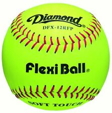 "Diamond Dfx-12Rfp Leather Soft Touch 12"" Practice Softballs (1 Dozen)"