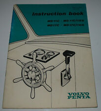 Instruction Book Volvo Penta MD 11C / MD 11C/110S / MD17C / MD17C/110S 07/1976!!