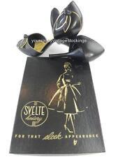 "SASSY 3 Pr SVELTE CAPRICE 60/15 SEAMED FF Vintage Nylon Stockings  10/34"""