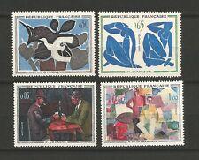 France 1961 tableaux de peintres modernes Y&TN°1319 à 1322 neufs MNH /T6507