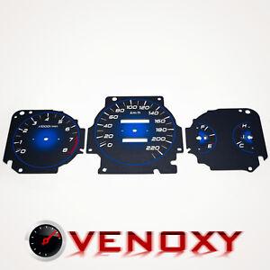 Honda Civic 1996-2000 KM/H Aftermarket Instrument Cluster Black Gauge Faces