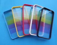NEW Rainbow TPU Silicone Hard Clear Case Bumper Cover For iPhone 5 5G 5th 5S