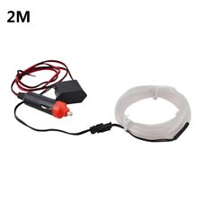 White 2M 12V LED Car Auto Interior Decorative Atmosphere Wire Strip Light Lamp