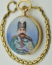 ONE OF A KIND MUSEUM Persian King Mozaffar award 140g heavy gold&enamel watch