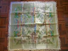 jim sheng china brocaded flowers silk chinese fringed tablecloth Piano Shawl