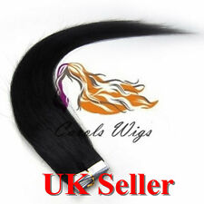 """Best Quality 16''-24"""" Tape-In Russian Remy Human Hair Extensions UK Seller 1st"""