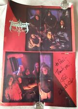 "Tourniquet Christian band poster, 21""x15"", Autographed"
