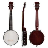 Vintage Professional 4 String Children Banjo Closed Back w/24 Brackets Banjolele