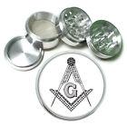 Freemason Rs1 Themed Aluminum Herb Grinder 63mm 4 Piece Hand Mueller