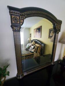 Aida Italian Bedroom Mirror Accessory Black And Gold Finish