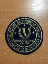 PATCH POLICE MEXICO BAJA CALIFORNIA SECRETARIA DE SEGURIDAD PUBLICA - ORIGINAL!