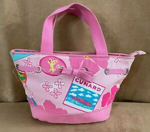 Lilly Pulitzer Cunard Hail to the Queen pink 2005 tote bag purse Mary 2 cruise