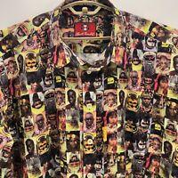 Vintage Alberto Bandit Faces Shirt Size 4XL Pictures Cultural Aboriginal Africa