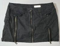 "Preowned- Buffalo David Bitton ""Divana"" Front Zip Mini Skirt Womens (Size 29)"