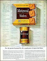 1962 Metrecal diet wafers & liquid Edward Dalton co. retro photo print ad adl76