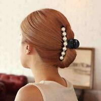 EG _ Damen weiß Kunstperle Strass Dekoration Kopfschmuck Haarnadel Mode Haar C