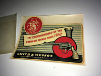 SMITH & WESSON Vintage Dealer Window Decal 1950s Revolver Advertising Sign