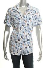 New Women's Karen Scott Petite Cotton Flip-Flop-Print Bright White Combo PS